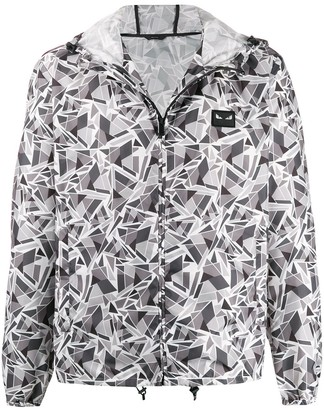 Fendi futuristic FF print hooded jacket