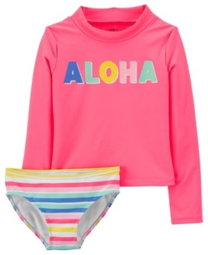 Carter's Little Girls Aloha Rashguard Set, 2 Piece