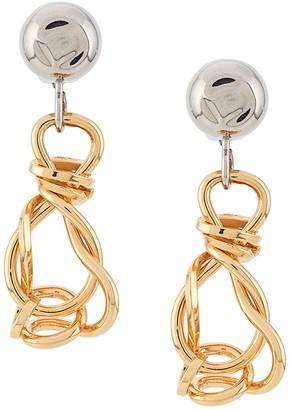 Marni Twisted Dangling Earrings