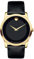 Movado Museum Classic Goldtone Leather Strap Watch