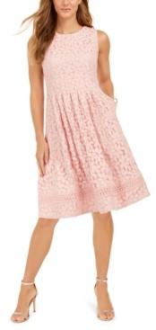 Jessica Howard Petite Lace Fit & Flare Dress