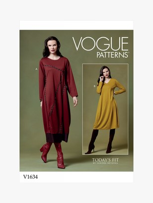 Vogue Women's Relaxed Dress Sewing Pattern, 1634