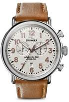Runwell Chronograph Leather Strap Watch