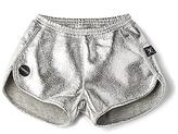 Nununu Gym Shorts in Metallic Silver. - size 2/3T (also in 3/4T)