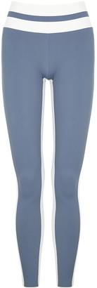 Vaara Flo two-tone stretch-jersey leggings
