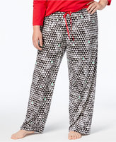 Hue Plus Size Printed Pajama Pants