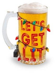 Big Mouth Inc. The Get Lit Led Holiday Beer Glass