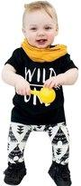 Malltop Baby Set, Cute Suit Letter Print T-Shirt +Geometric Pattern Pants