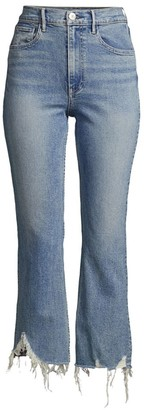 3x1 Empired Distressed Cropped Flare Jeans