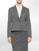Calvin Klein Womens One Button Textured Suit Jacket
