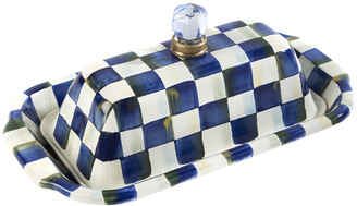 Mackenzie Childs MacKenzie-Childs - Royal Check Butter Box