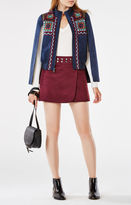 BCBGMAXAZRIA Archer Crochet-Paneled Cape