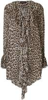 Twin-Set leopard print long-sleeve blouse