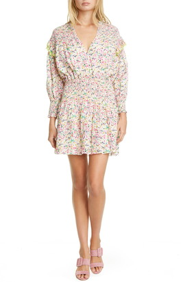 Tanya Taylor Imogen Floral Long Sleeve Minidress