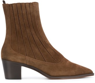 L'Autre Chose Block-Heel Point Toe Boots