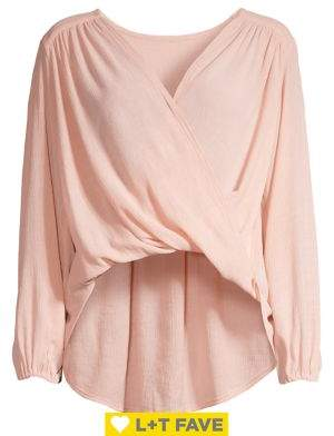 Free People High-Low Faux Wrap Top