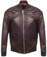Replay Leather Jacket Brown