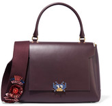 Anya Hindmarch Bathurst Embellished Leather Tote - Plum