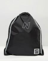 New Balance 410 Drawstring Backpack In Black