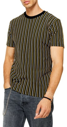 Topman Classic Fit Stripe Pique T-Shirt