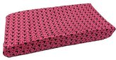 One Grace Place Sassy Shaylee Changing Pad Cover, Black and Pink by
