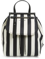 Marc Jacobs Striped Trooper Nylon Backpack - Black