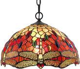 AMORA Amora Lighting AM1034HL14 Tiffany Style DragonflyHanging Lamp 2 light
