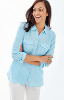 J. Jill Yarn-Dyed Linen Two-Pocket Shirt