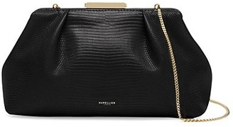 DeMellier Florence Lizard-Embossed Leather Clutch