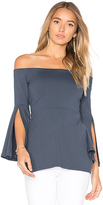 Susana Monaco Sidney Top in Charcoal