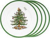 Spode Dinnerware, Set of 4 Christmas Tree Dinner Plates