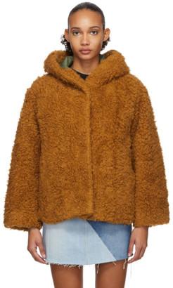 Sjyp Brown Heavy Fleece Jacket