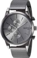 Steve Madden Men's Quartz Stainless Steel and Alloy Dress Watch, Color:Grey (Model: SMMW039GU)