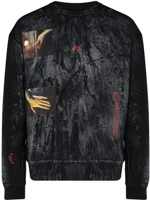 A-Cold-Wall* Glass Blower distressed-print cotton sweatshirt