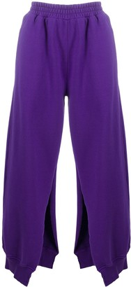MM6 MAISON MARGIELA Side-Cut Cropped Track Pants