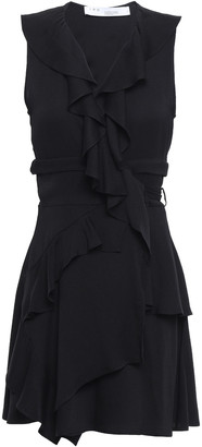 IRO People Ruffled Crepe Mini Wrap Dress