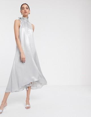 Soaked In Luxury high neck sleeveless dress