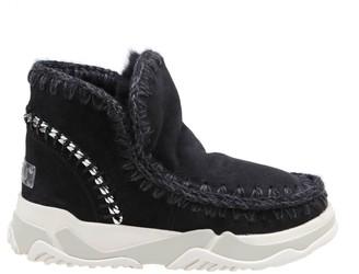 Mou Sneakers Eskimo Trainer In Suede Color Black
