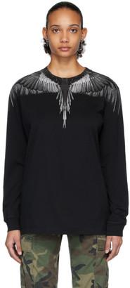 Marcelo Burlon County of Milan Black Wings Long Sleeve T-Shirt