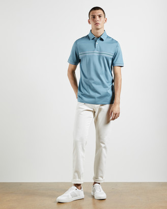 Ted Baker TRIMZY Cotton panelled polo top
