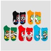 Super Mario Women's Super Mario Low-Cut 5-Pack Socks - Size 9-11