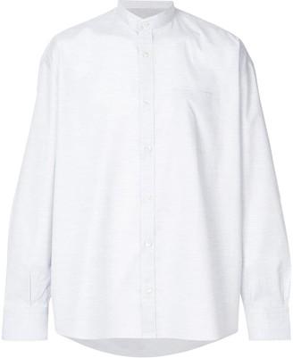 Eleventy collarless shirt