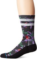 Stance Men's Perched Tropical Surf Print Arch Support Classic Crew Sock