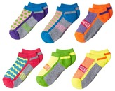 Jefferies Socks Sporty Half Cushion Low Cut 6-Pack Girls Shoes