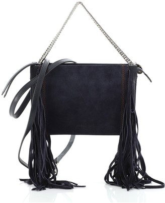 Givenchy Cross 3 Crossbody Bag Fringe Leather and Suede Small