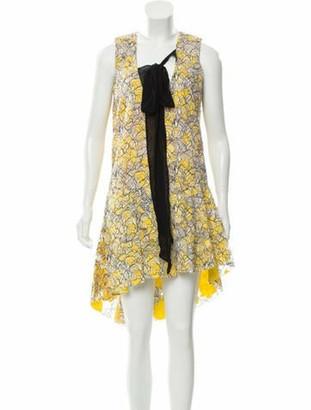 Christian Dior Guipure Lace Midi Dress Yellow