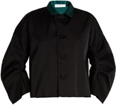 Toga Contrast-collar satin jacket