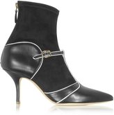 Malone Souliers Color Block Nappa Leather and Stretch Suede Sadie Bootie