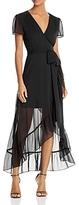 WAYF Ruffle Short-Sleeve Wrap Dress - 100% Exclusive