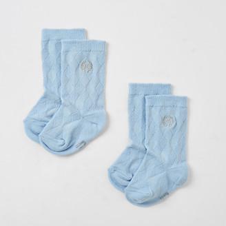 River Island Baby blue RI knee high socks